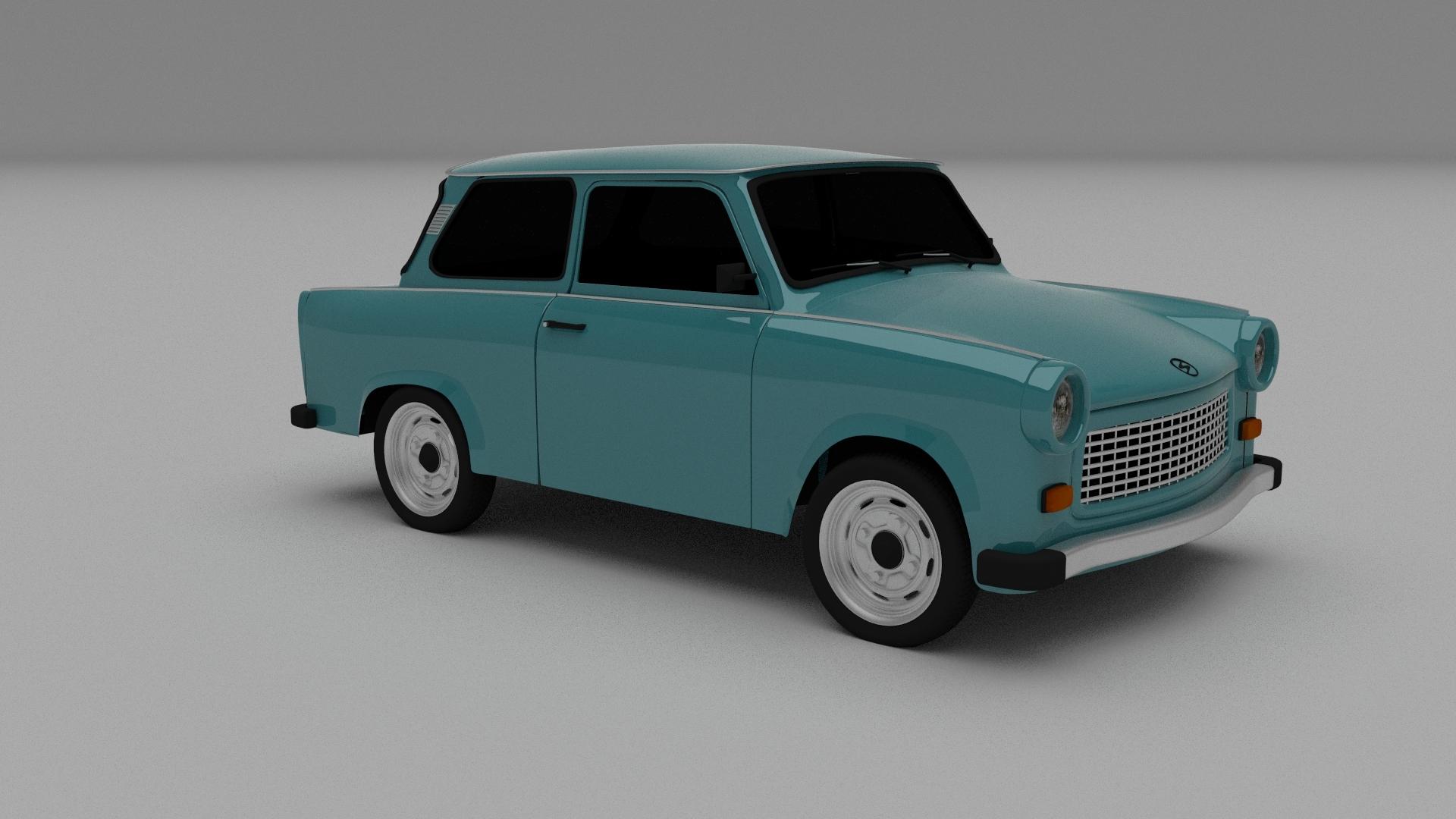 trabant 601 3d model. Black Bedroom Furniture Sets. Home Design Ideas