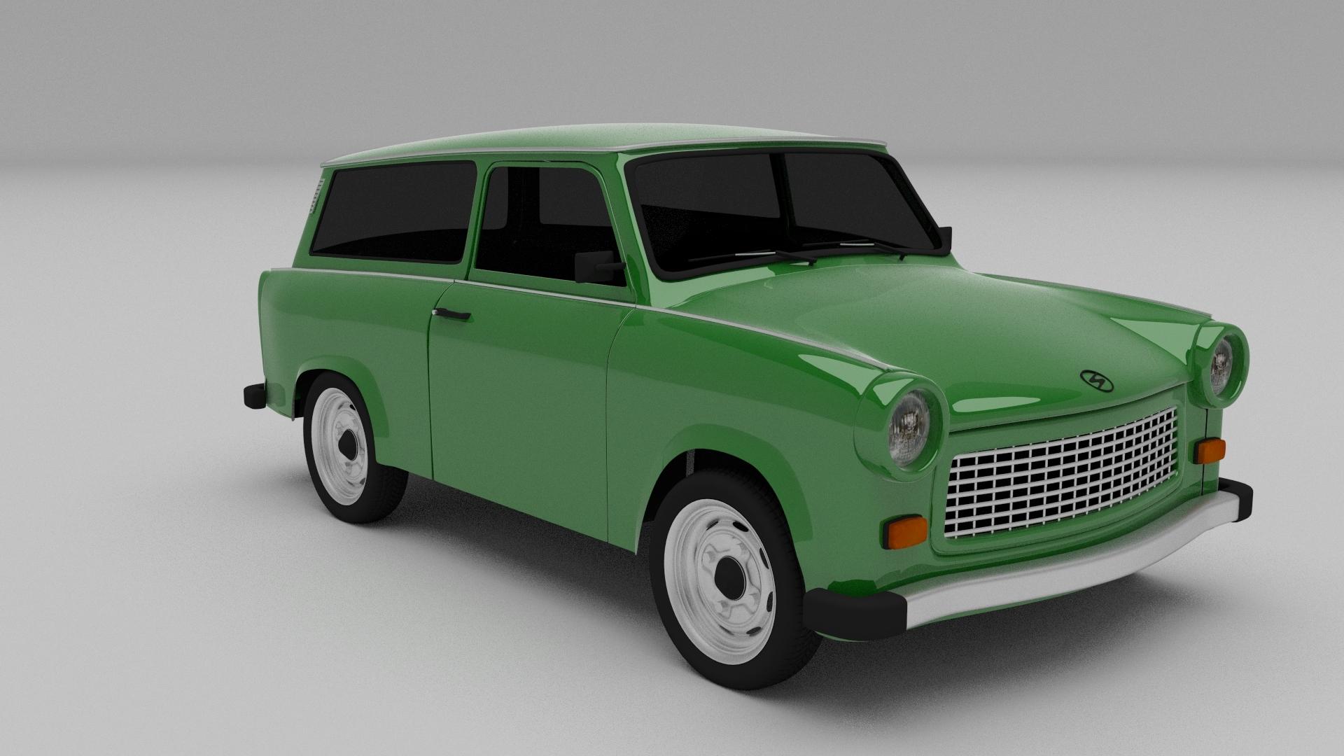 trabant 601 estate 3d model. Black Bedroom Furniture Sets. Home Design Ideas