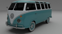 VW Bus Mk 1 3D Model