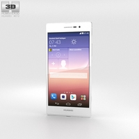 Huawei Ascend P7 White 3D Model