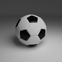 High Quality Classic Football 3D Model