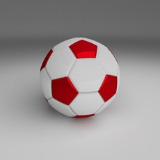 Classic High Quality Football 3D Model