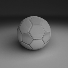 High Quality White Football 3D Model