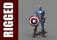 Captain America (Rig) for Maya 1.0.1