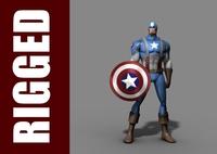 Captain America (Rig) 1.0.1 for Maya