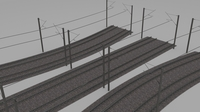 Electrified train line 3D Model