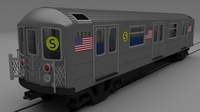 NY train W interior 3D Model