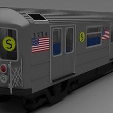 NY train W interior 3D Model