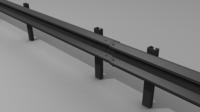 Traffic railing 3D Model