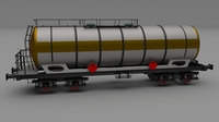 Train tanker car 3D Model
