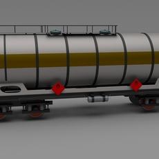 Train tanker car 3D Model