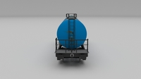 Aral rusty train tanker car 3D Model