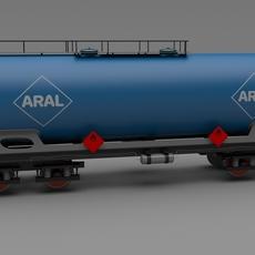 Aral train tanker car 3D Model