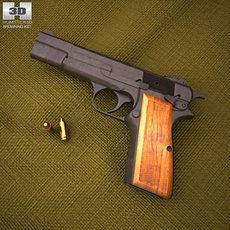 Browning Hi Power 3D Model