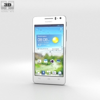 Huawei Ascend G600 White 3D Model