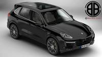 Porsche Cayenne Turbo S 2016 3D Model