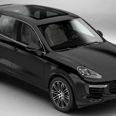 Porsche Cayenne Turbo S 2016 3D Model