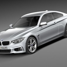 BMW 4-Series Coupe F32 M sport package 2015 3D Model
