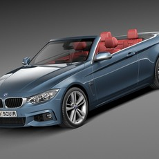 BMW 4-Series Convertible F33 M sport package 2015 3D Model