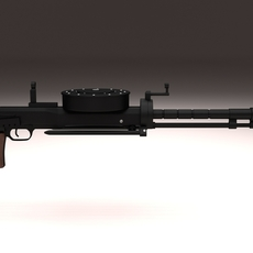 Degtyaryov DT Machine Gun 3D Model