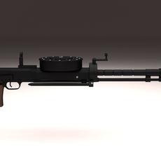 Degtyaryov DT Machine Gun 3D Model