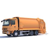 Mercedes Actros Garbage Truck 3D Model