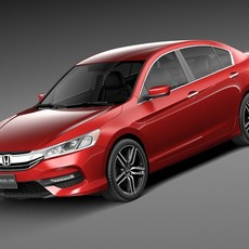 Honda Accord Sport 2016 3D Model