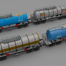 Train tanker collection 3D Model
