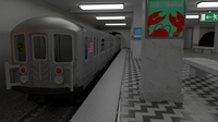 Subway Station with Train included 3D Model