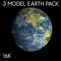 Animated 16K Earth Pack 3D Model