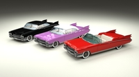 1959 Cadillac Eldorado 62 Series Pack 3D Model