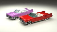1959 Cadillac Eldorado Series 62 Convertible Pack 3D Model