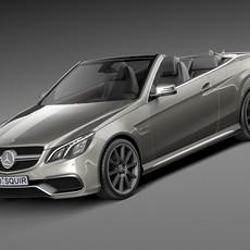 Mercedes-Benz E63 AMG Convertible 2016 3D Model