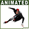 Speed Skater CG 3D Model