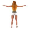 14 58 06 840 white shorts and tshirt back long hair 4
