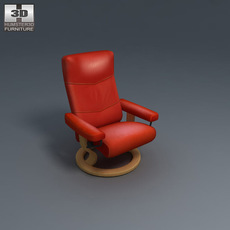 Alpha Large Chair 3D Model