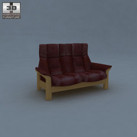 Buckingham Two-Seat Sofa 3D Model