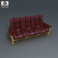 Buckingham Three-Seat Sofa 3D Model