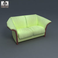 Manhattan Loveseat 3D Model