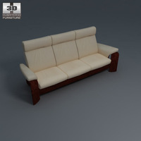 Pegasus 3-seat sofa 3D Model