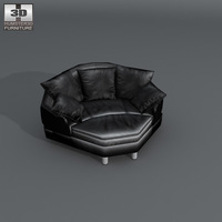 Space Big corner sofa 3D Model