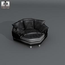 Space Big corner sofa 3D Model