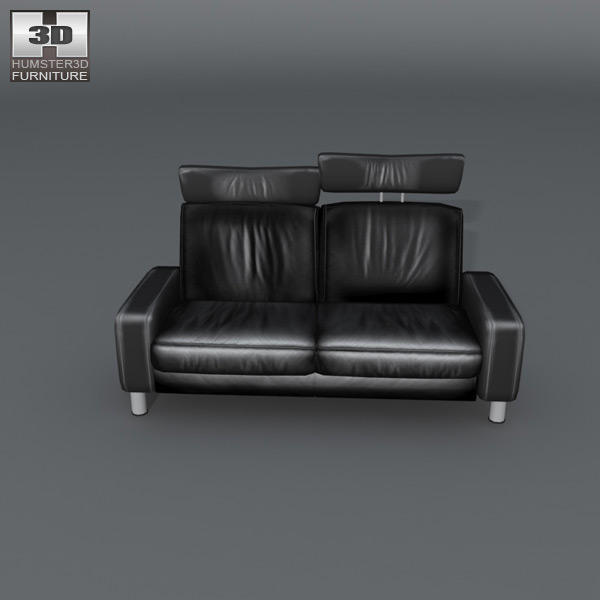 Space loveseat 3d model - Sofas small spaces model ...