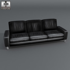 Space 3-seat sofa Low-back 3D Model