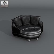 Space corner medium sofa 3D Model
