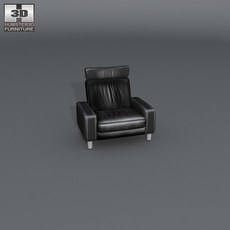 Space armchair high-back 3D Model