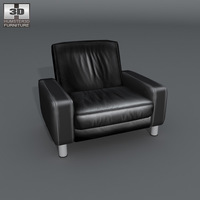 Space armchair Low-back 3D Model