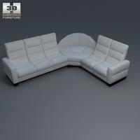Wave corner sofa 3D Model
