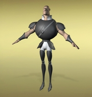 Free Warrior Base Mesh 3D Model