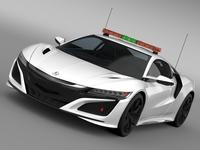 Acura NSX Safety Car 2016 3D Model